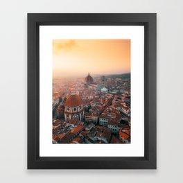 Florence sunrise Framed Art Print