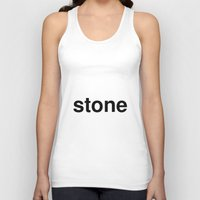 stone Tank Tops featuring stone by linguistic94