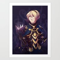 fire emblem Art Prints featuring Fire Emblem Fates Leon by Cycha