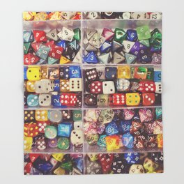 Colorful Dice Throw Blanket