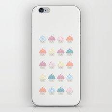 Cupcakes pattern iPhone & iPod Skin