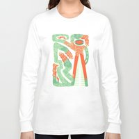 crocodile Long Sleeve T-shirts featuring Crocodile by Natalie Young