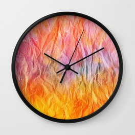 Crumpled Paper Textures Colorful P 42 Wall Clock