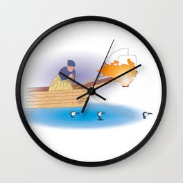 Japanese Cormorant fishing Wall Clock