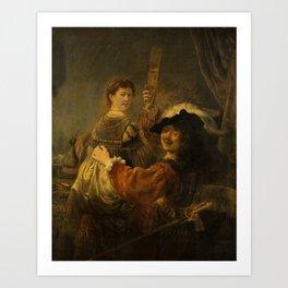 "Rembrandt Harmenszoon van Rijn, ""The Prodigal Son in the Brothel"", 1637 Art Print"