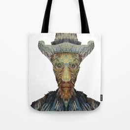Van Gogh Abstract Self Portrait Tote Bag