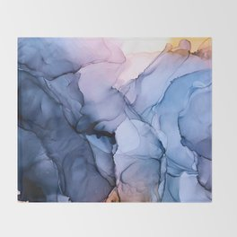 Captivating 1 - Alcohol Ink Painting Throw Blanket