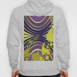 Escaping Dreams Purple and Yellow Hoody