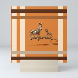 Butterscotch Stripes Mini Art Print