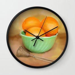 Fresh Oranges Wall Clock