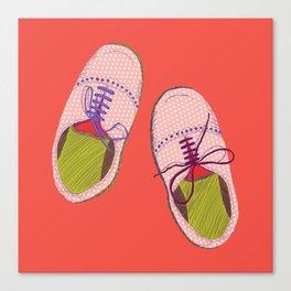 Polka dot shoes Canvas Print