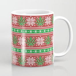 Christmas weed sweater Coffee Mug