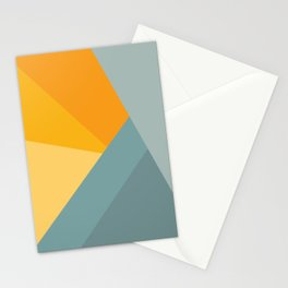 Abstract Mountain Sunrise Stationery Cards