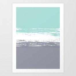 Pastel Color Blocks - Teal & Petroleum Art Print