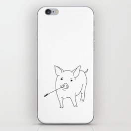 the pig iPhone Skin