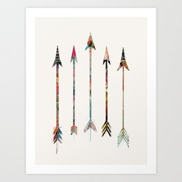 5 Arrows Art Print