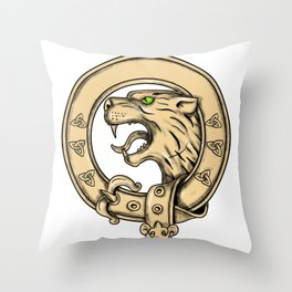 Scottish Wildcat Belt Tattoo Throw Pillow