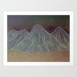 Range - Orange Art Print