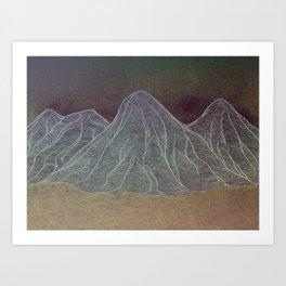 Range - Orange Art Print