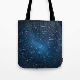 Constellation Star Map Tote Bag