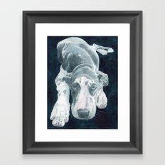 Sleepy Great Dane Framed Art Print