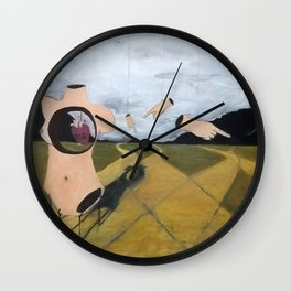 """Which Road to Choose"" Wall Clock"