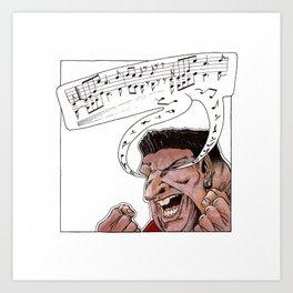 Ability to blink music Art Print