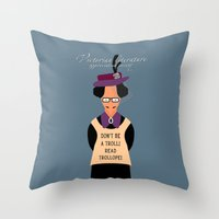 literature Throw Pillows featuring Victorian Literature - Trollope by Natallia Pavaliayeva