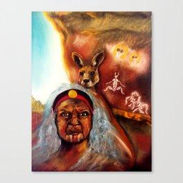 January Grounding Goddess Canvas Print