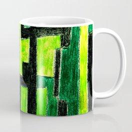 Three Green Puzzle Coffee Mug