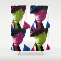 prince Shower Curtains featuring Prince by bellavigg