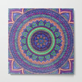 Hippie mandala 100 Metal Print