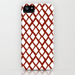Rhombus White And Red iPhone Case