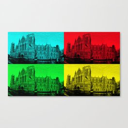 York Minster Pop Art Canvas Print