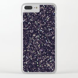 Modern abstract purple lavender lime green confetti Clear iPhone Case