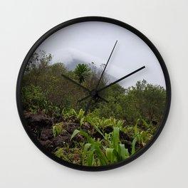 Volcano in the Mist in La Fortuna Wall Clock