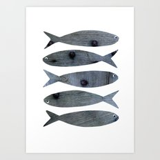 Sardines Anyone Art Print