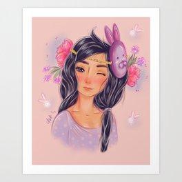 usagi-san Art Print