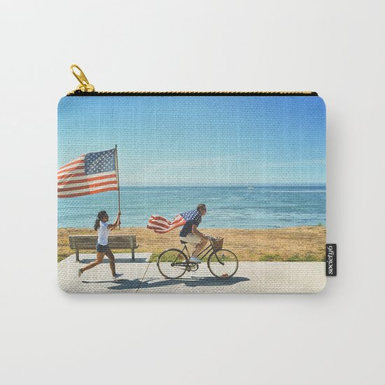 America flag bicycle Carry-All Pouch