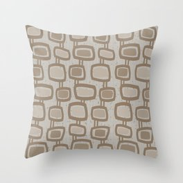Dangling Rectangles in Brown Throw Pillow