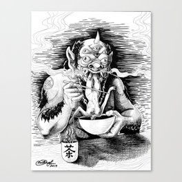 Demon Eating Canvas Print