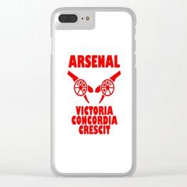 Slogan Arsenal Clear iPhone Case