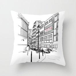 Paris, rue Saint Pierre Throw Pillow