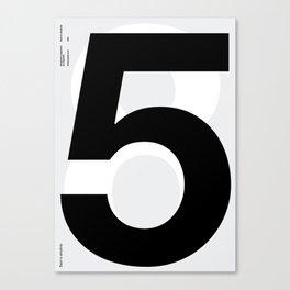 Helvetica Poster Nº5 by empatia Canvas Print