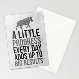 A Little Progress Every Day Stationery Cards