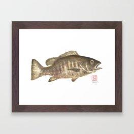 Mangrove Snapper Gyotaku Framed Art Print