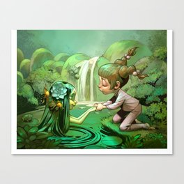 Anais and the Nymph Canvas Print