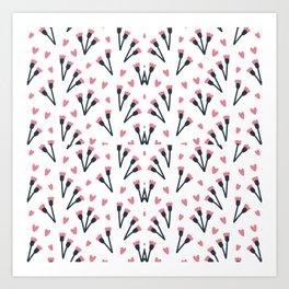 Modern Lovely Flower Pattern Art Art Print