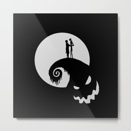 Nightmare Jack Skellington Metal Print
