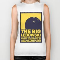 big lebowski Biker Tanks featuring The Big Lebowski by Chá de Polpa
